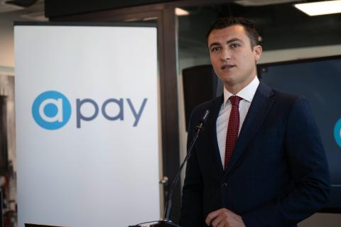 Malta Government Parliamentary Secretary Hon. Silvio Schembri inaugurates aPay headquarters on 4 November 2019 (Photo: Business Wire)