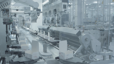 Production line at Takeda's new dengue vaccine manufacturing plant in Singen, Germany (Photo: Business Wire)