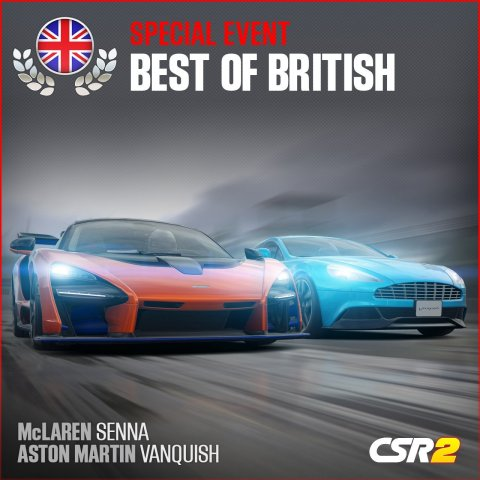 Zynga Features English Hypercars in CSR Racing 2 With 'Best of British' Event Series (Graphic: Business Wire)