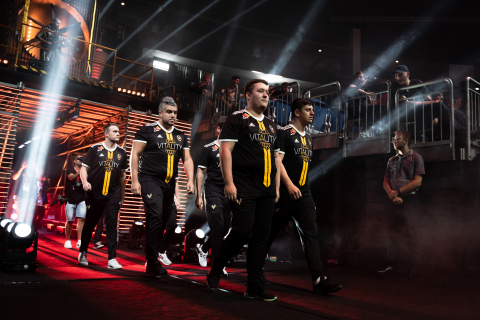 Team Vitality Counter Strike players (from left to right): Alex 'ALEX' McMeekin, Cédric 'RpK' Guipouy, Mathieu 'ZywOo' Herbaut, Dan 'apEX' Madesclaire. (Photo: Business Wire)