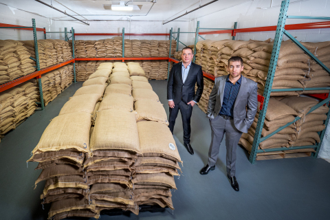 Hemp Depot maintains the largest hemp CBD seed inventory in the U.S. Co-Founders Luke Pickering and Andy Rodosevich pictured with $16.5 Million in CBD seeds. (Photo: Business Wire)