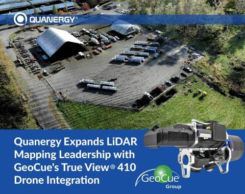 Quanergy expands LiDAR mapping leadership with GeoCue's True View® 410 Drone Integration (Graphic: Business Wire)