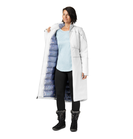 The Elsa Long Down Jacket features a waterproof-breathable shell and holographic Omni-Heat Thermal Reflective lining for ultimate warmth. (Photo: Business Wire)