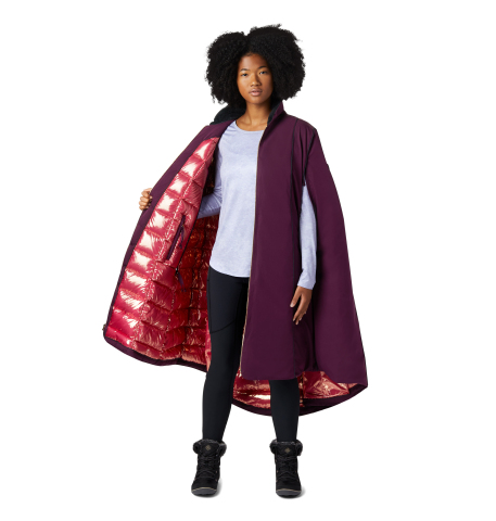The Anna Down Cape features a gold Omni-Heat Thermal Reflective lining and 800 fill-power down insulation. (Photo: Business Wire)