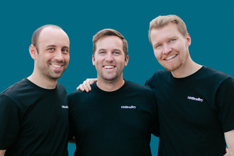 Pictured left to right: Germain Cassiere - Co-Founder & CTO, Zach Bruhnke - Co-Founder & CEO, Dmitry Gritskevich - Co-Founder & COO (Photo: Business Wire)