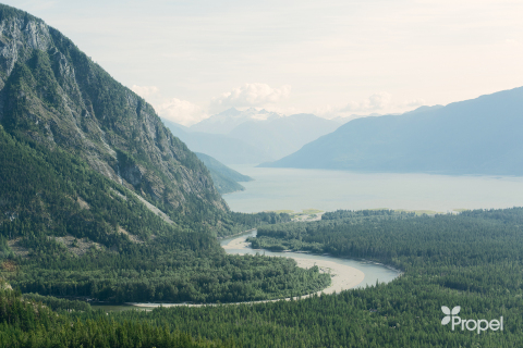 Propel delivered the company's low carbon Diesel HPR to the remote Kimsquit Bay Lodge located on the legendary Dean River in coastal British Columbia, Canada.(Photo: Business Wire)