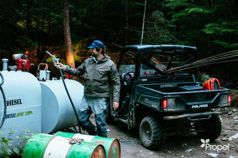 All of the lodge's power generators and diesel-powered trucks are now running on Diesel HPR, reducing emissions, while having a reliable, efficient, and powerful energy source for the vehicles and buildings in camp. (Photo: Business Wire)