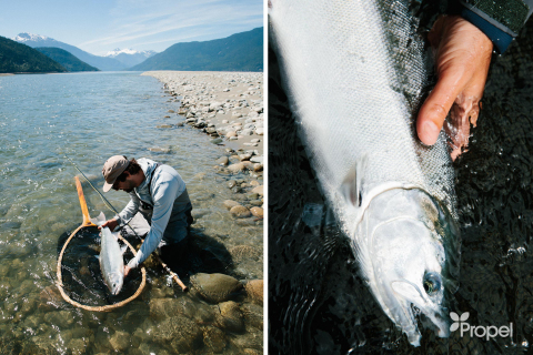 """""""Partnering with Propel to power our camp enhanced the experience for our customers and demonstrates our commitment to ensuring the long-term sustainability of these legendary fish runs,"""" said Jeff Hickman, of Kimsquit Bay Lodge. (Photo: Business Wire)"""