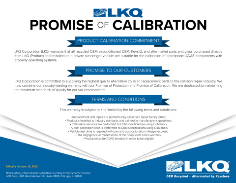 By offering the new Promise of Calibration, LKQ Corporation provides an unsurpassed level of quality assurance to its customers. (Photo: Business Wire)
