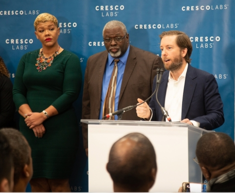 Cresco Labs CEO and Co-Founder Charlie Bachtell announces participants in the Company's first Community Impact Incubator class (Photo: Business Wire)