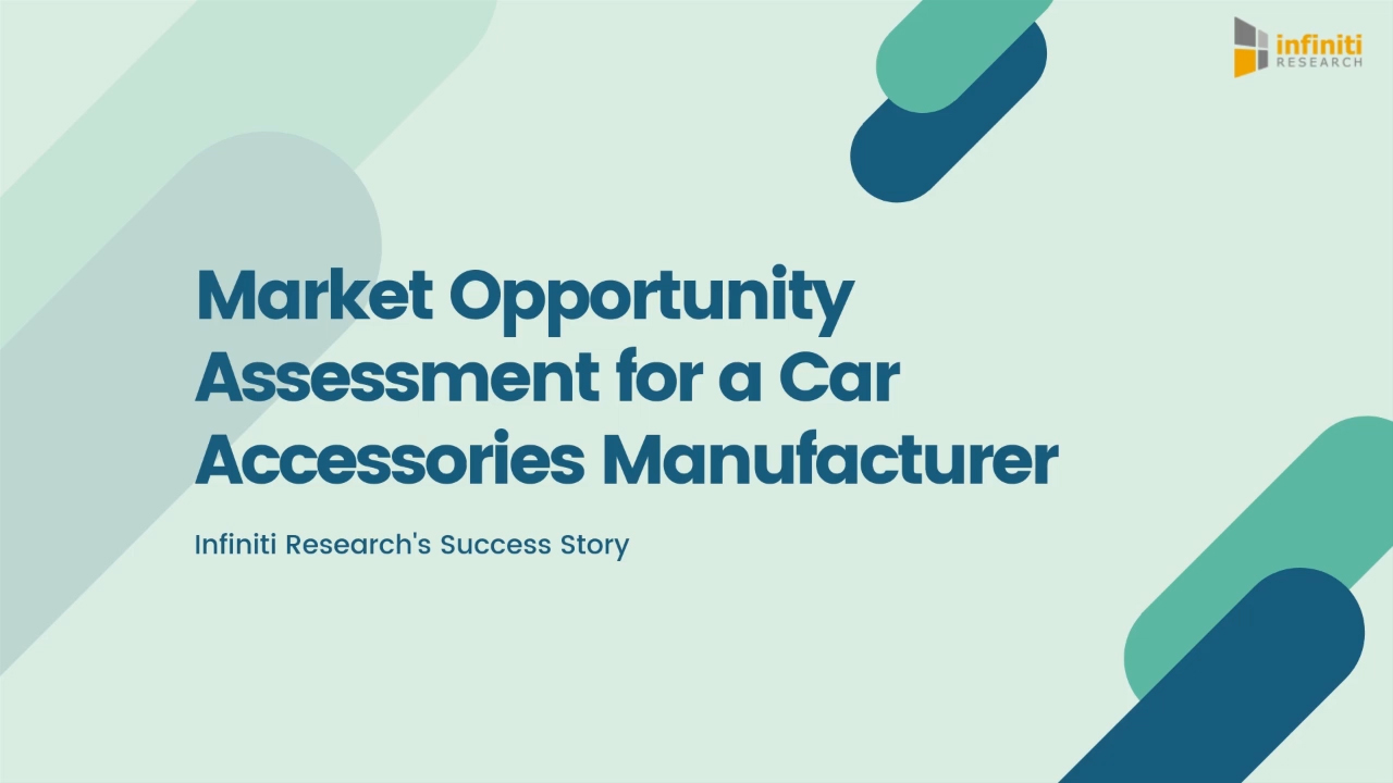 Market opportunity assessment for a car accessories manufacturer.