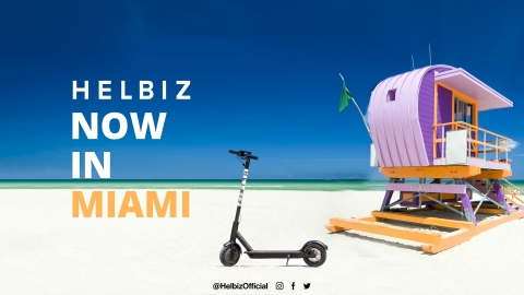 Helbiz Launches in Miami (Graphic: Business Wire)