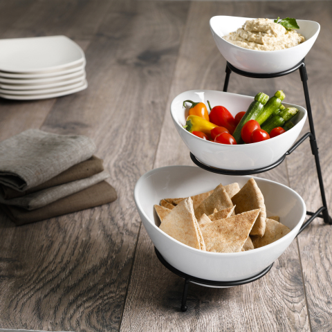 BJ's Wholesale Club announced unbeatable Thanksgiving deals on Nov. 7, 2019, including the Berkley Jensen 3-Tier Bowl Serving Set with Metal Stand for $14.99, available in-club and on BJs.com. (Photo: Business Wire)