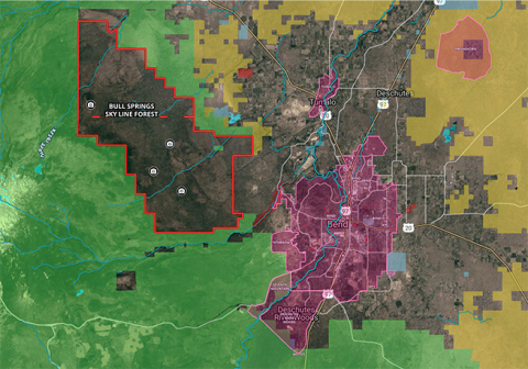 Map overview of Skyline Bull Spring Forest (Graphic: Business Wire)