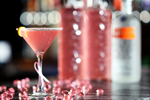 Pink Ribbon Martini was the Signature Cocktail for the month of October at Viejas Casino & Resort. (Photo: Business Wire)