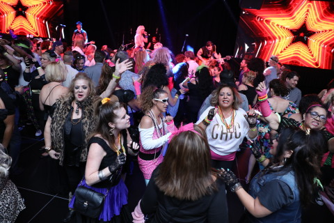 Guests enjoying live entertainment during the Awesome 80's Prom Night at Viejas Casino & Resort. (Photo: Business Wire)