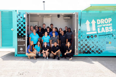 Drop Anywhere Labs are custom outfitted STEM learning spaces built from modified shipping containers where students are engaged in an immersive onboard career exploration experience, centered around in demand STEM jobs. (Photo: Business Wire)