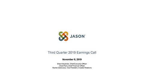 JASN Third Quarter 2019 Earnings Call Slides
