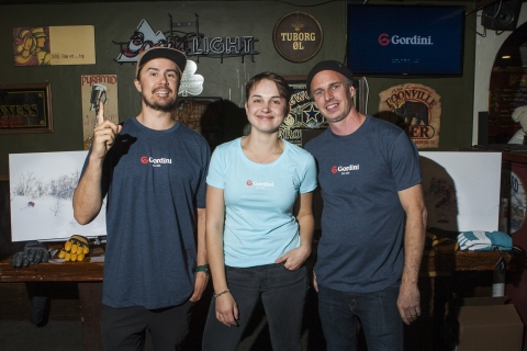 Left to Right: Gordini was well represented with Pro Team Rider Julian Carr, Strategy Coordinator Hanna Reichel and Senior Designer Chris Gougeon. (Photo: Business Wire)