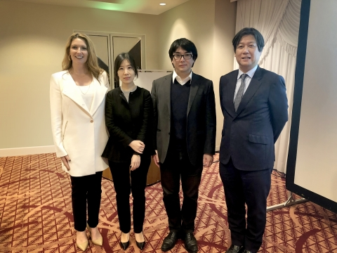 Dr. Lucy Gildea (Mary Kay Inc.), Dr. Sang Eun Lee, Dr. Gyohei Egawa and Dr. Akimichi Morita (Photo: Mary Kay Inc.)