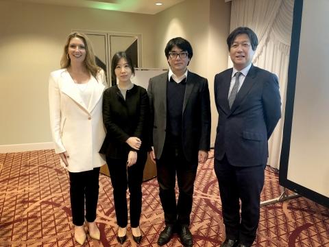 Dr. Lucy Gildea (Mary Kay Inc.), Dr. Sang Eun Lee, Dr. Gyohei Egawa and Dr. Akimichi Morita (Photo: Mary Kay Inc.)