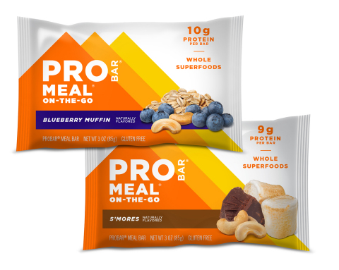 PROBAR Meal Bars S'mores and Blueberry Muffin (Photo: Business Wire)
