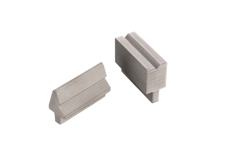 Press brake tools are used to create bends in sheet metal with a wide range of applications - from the production of heavy-duty metal parts, to electronics enclosures. This tool in particular is used to create a custom bend angle in aluminum. (Photo: Business Wire)