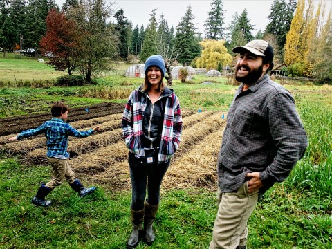 The Organic Farm School is cultivating a new generation of farmers, like recent graduates Jocelyn Stevens and Joncarlos Santos. The classmates are starting Workin' Dream Farm on Whidbey Island, Wash. and will grow up to 50 different crops and operate a busy farm stand, with the help of young Seth. The school's next six-month program begins in April and is currently accepting applications. (Photo: Business Wire)