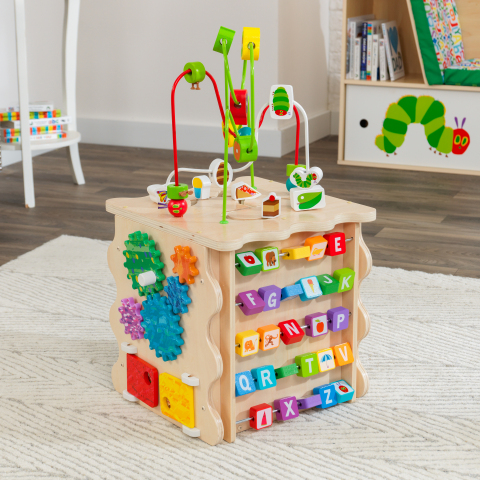 The KidKraft World of Eric Carle™ Very Busy Activity Cube, a five-sided exploration toy, has been selected as a finalist for the Toy Association's 2020 Toy of the Year Awards in the Infant/Toddler category. (Photo: Business Wire)