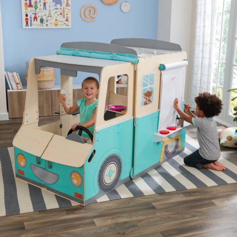 The Wondervan from KidKraft - an unique vehicle-shaped play space that gives kids the tools to put their imaginations into overdrive. (Photo: Business Wire)
