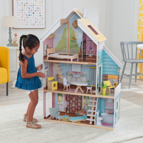 The Zoey Magic Lights & Sounds Dollhouse from KidKraft features innovative touch technology, allowing imagination to come to life better than ever. (Photo: Business Wire)