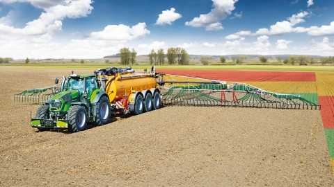 The Topcon Liquid Manure Sensing and Control solution senses nitrogen levels. (Photo: Business Wire)