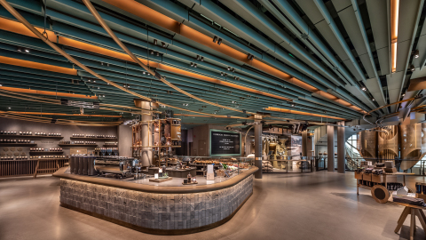 Today Starbucks unveiled the Reserve Roastery Chicago, which opens its doors to the public on Friday, November 15. (Photo: Business Wire)