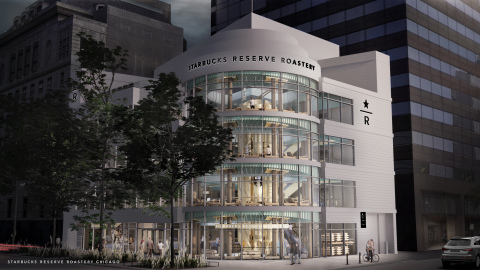 Located on North Michigan Avenue and Erie Street on Chicago's Magnificent Mile, the opening of Chicago Reserve Roastery marks Starbucks sixth global Roastery and third location in the U.S.  (Photo: Business Wire)