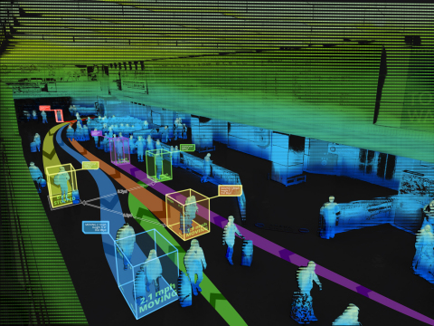 Velodyne Lidar sensors provide centimeter-level distance measurement data in all light conditions to facilitate highly reliable object detection and tracking in security applications. (Photo: Velodyne Lidar)