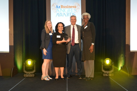 Desert Financial Credit Union accepts its Az Business Angel award. (Photo: Business Wire)
