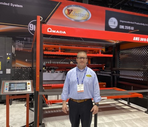 Diligent Vice President, Hu Montague, at the 2019 FABTECH Convention in Chicago. (Photo: Business Wire)