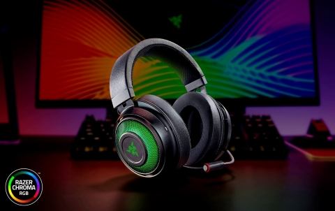 Razer Kraken Ultimate gaming headset with THX Spatial Audio, cooling-gel earcups and RGB underglow earcups. (Photo: Business Wire)