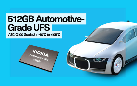 KIOXIA America's Automotive UFS supports a wide temperature range, meets AEC-Q100 Grade2 requirements and offers the extended reliability required by various automotive applications. (Photo: Business Wire)