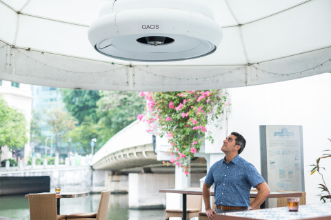 Phononic and Temasek Foundation Introduce First-of-its-kind Sustainable Outdoor Active Cooling in Singapore (OACIS) (Photo: Business Wire)