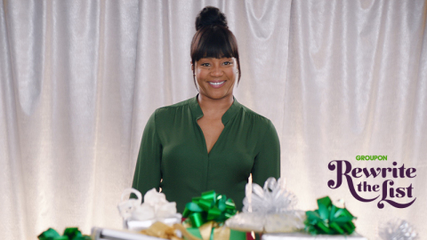 """What excites me the most about this Groupon campaign is that it speaks to a question we all face every year––what do we put on our holiday wish list,"" said Tiffany Haddish. ""Experiences make memories, and I'm looking forward to making some great ones with Groupon this holiday season."" (Photo: Business Wire)"