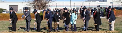 Meggitt leadership breaks ground with federal, state and local government partners. (Photo: Business Wire)
