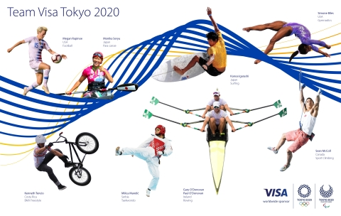 Visa Introduces Team Visa Roster Ahead of the Olympic and Paralympic Games Tokyo 2020 (Graphic: Business Wire)