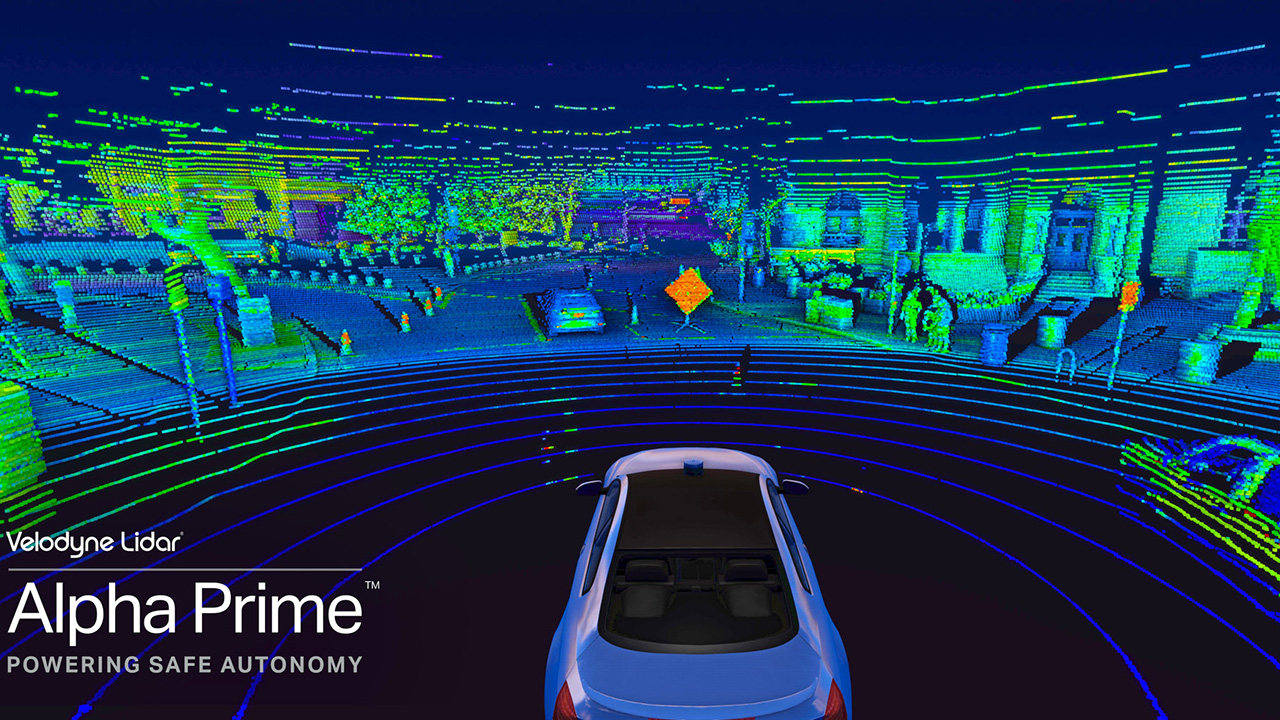 Velodyne Alpha Prime™ has a unique combination of breakthrough innovations that allows vehicles to navigate in unfamiliar and dynamic settings.