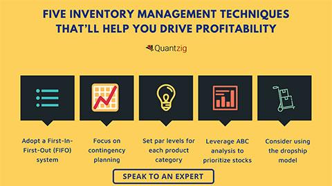 FIVE Inventory Management Techniques That'll help You Drive Profitability