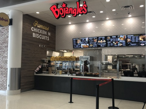 Longtime Bojangles' franchisee FDY, Inc. opened a second location in The Plaza at East Terminal between Concourses D and E at the airport. (Photo: Bojangles')