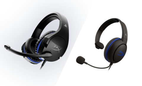 Officially licensed gaming peripherals for PlayStation®4 (PS4™): HyperX Cloud Chat™ and HyperX Cloud Stinger™ gaming headsets (Graphic: Business Wire)