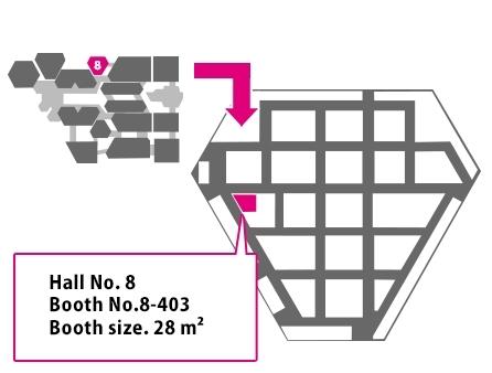 ハギワラソリューションズ出展ブースのマップ(画像:ハギワラソリューションズ株式会社)
