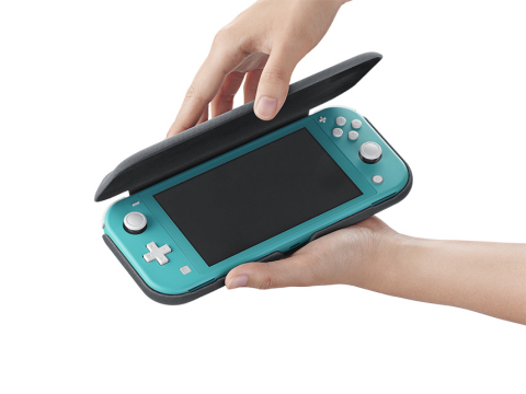 The Nintendo Switch Lite Flip Cover & Screen Protector will be available to purchase exclusively online beginning Dec. 8. The set will hit stores in early 2020. (Photo: Business Wire)