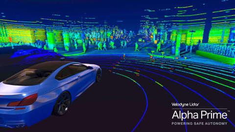 Velodyne Alpha Prime™ is a significant step forward in enabling the advancement of the autonomous vehicle and robot industries. (Photo: Velodyne Lidar)